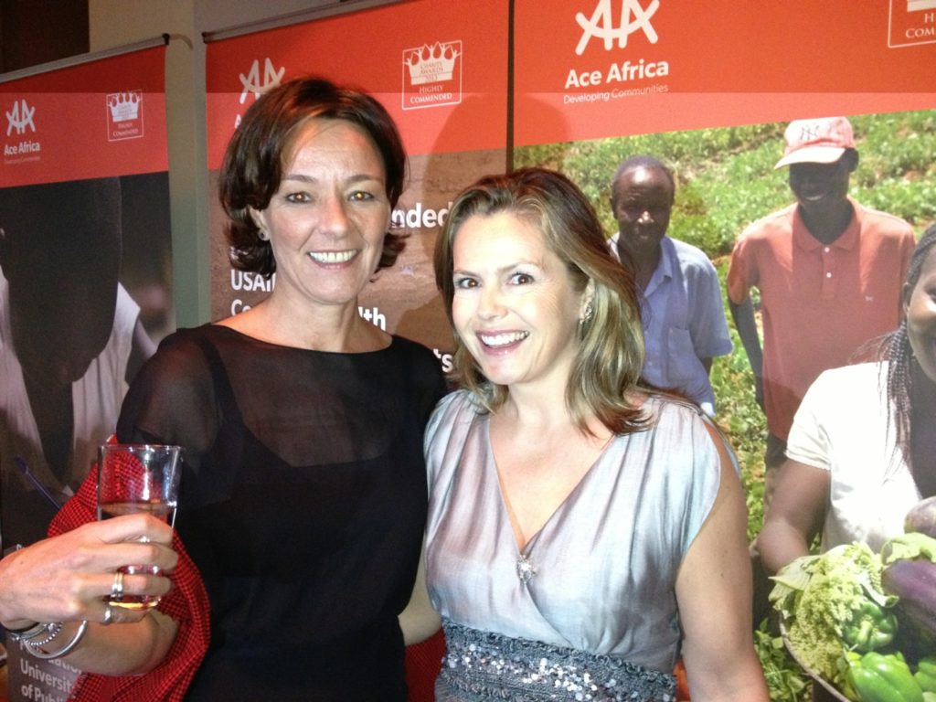 Liz Earle Africa - with ACE Africa founder Joanna Waddington