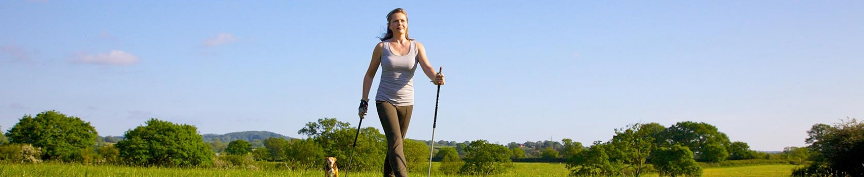 Liz Earle nordic walking