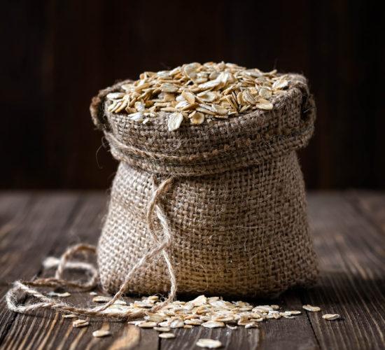 oats in healthy rhubarb recipe