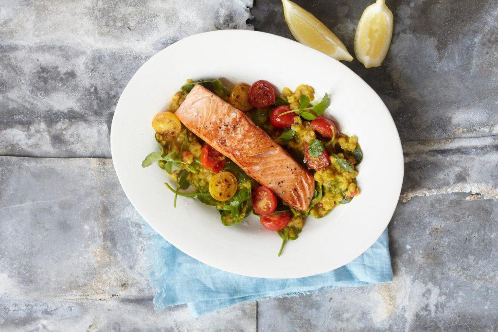 healthy salmon recipe from Liz Earle Wellbeing