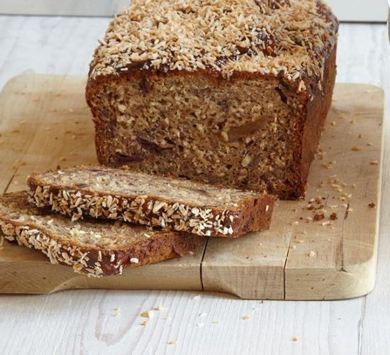 Banana loaf with toasted coconut Liz Earle Wellbeing