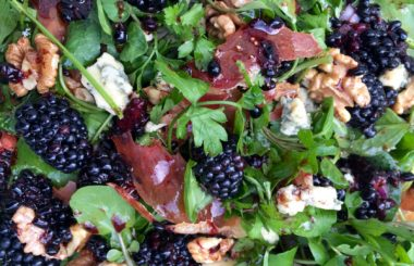 Blackberry stilton and walnut salad recipe from Liz Earle Wellbeing