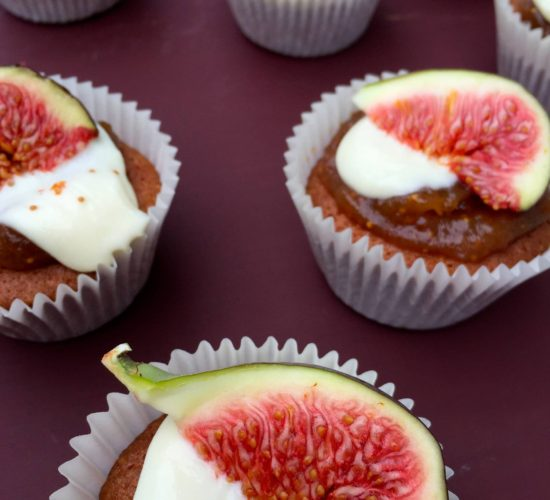 Honey & Vanilla Cupcake with Fig & Goats Cheese Icing Liz Earle Wellbeing