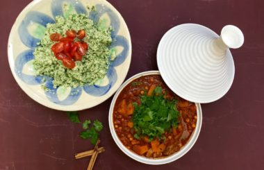 easy lamb tagine recipe with healthy cauliflower couscous from Liz Earle Wellbeing