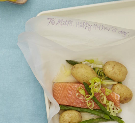 Mother's Day menu a recipe for children to cook