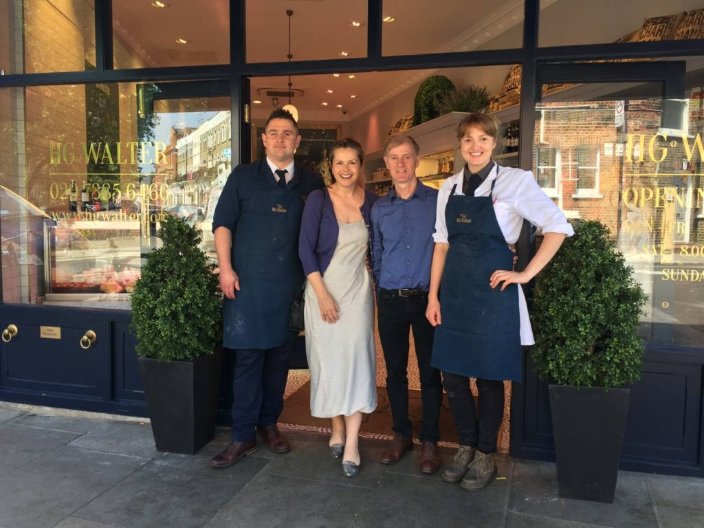 Walter Ltd visit to butcher hg walter liz earle wellbeing