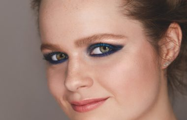 Blue eyed beauty eyeliner flick make up tutorial Liz Earle Wellbeing
