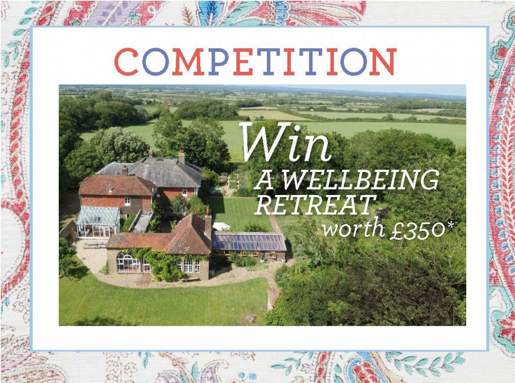 Win a wellbeing retreat with £350