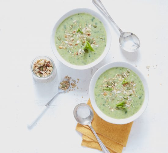 minted pea and watercress soup with a crunchy toasted topping recipe Liz Earle Wellbeing
