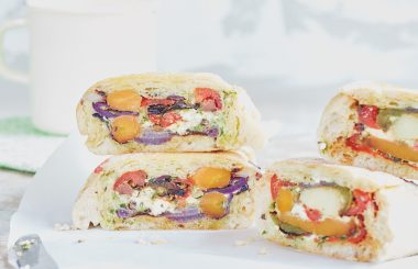 roasted vegetable shooter's sandwich lunch on the go Liz Earle Wellbeing