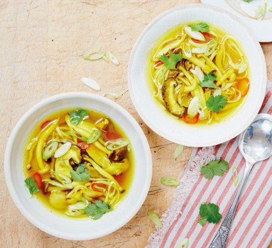 Wild mushroom broth from Liz Earle Wellbeing