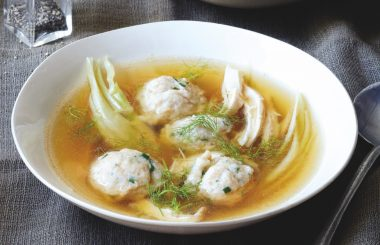 chicken soup with spelt and herb dumplings Roger Saul - Liz Earle Wellbeing