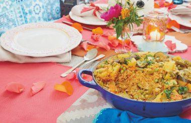 Jareesh: Nourishing vegetable and wheat casserole Arabian feast Liz Earle Wellbeing