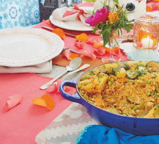 Jareesh: Nourishing vegetable and wheat casserole Arabian feast Liz Earle Wellbeing