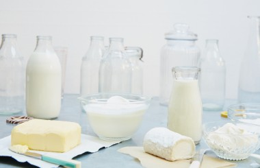 Liz's Larder dairy products milk bottles glass jars Liz Earle Wellbeing