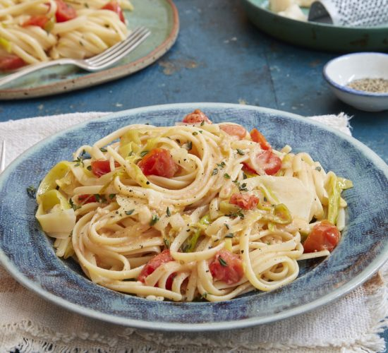 Plum tomato, fennel and lemon linguine with Parmesan Liz Earle Wellbeing