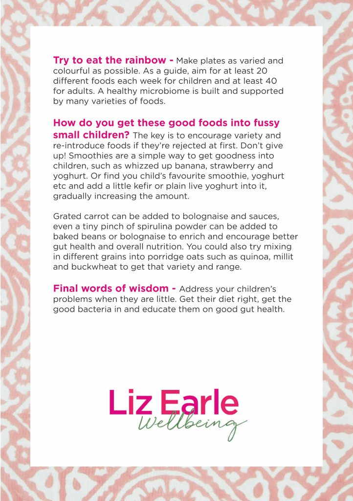 Good gut health for all the family - Wellness with Liz Earle Show Notes - 2