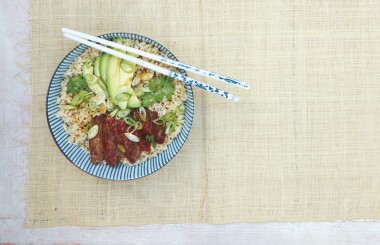 Poke grain bowl from Liz Earle Wellbeing