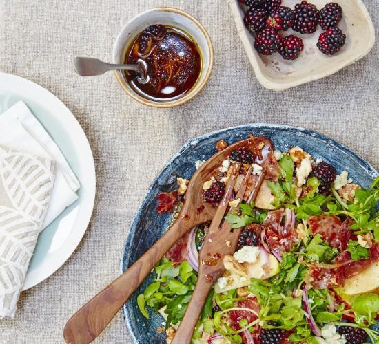 Wild food recipe - foraged blackberry salad from Liz Earle Wellbeing