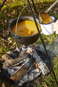 Pumpkin and Chilli Soup Bring Made Over The Fire From Liz Earle Wellbeing Magazine
