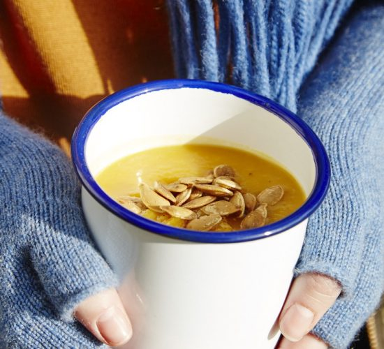 Pumpkin and Chilli Soup from Liz Earle Wellbeing Magazine