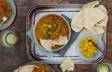 Carrot spiced dhal with homemade mango chutney - Liz Earle Wellbeing