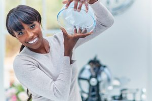 lorraine pascale with bowl - liz earle wellbeing