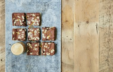 chocolate and almond kladdkaka fika brownies liz earle wellbeing