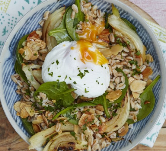 nutty vegetarian grain bowl recipe liz earle wellbeing
