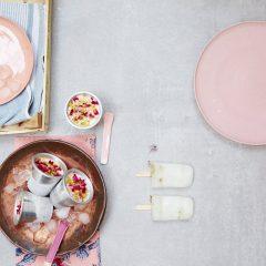 ice lollies persian rose kulfi frozen yoghurt - liz earle wellbeing