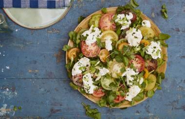 tomato and burrata salad liz earle wellbeing