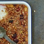 Try these baked oats for a deliciously filling breakfast recipe. The perfect fruity alternative to porridge with blackberry and apples. Photo by Georgia Glynn Smith