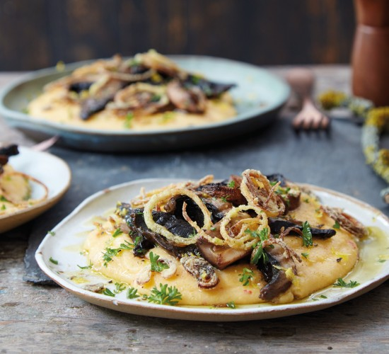 mushrooms and polenta liz earle wellbeing