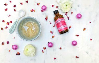 DIY rose lip scrub ingredients