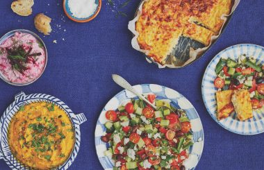 Cheese pie and Greek feast recipes
