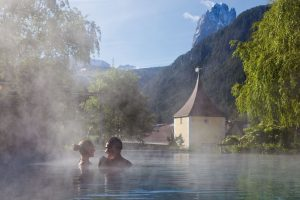 Dolomites, thermal pool