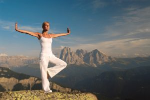Dolomites, yoga in the mountains