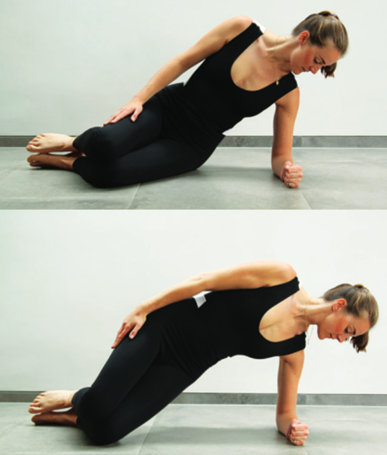 Side Bend pilates pose, liz earle wellbeing