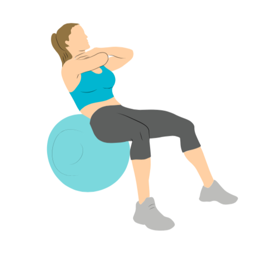 lose belly fat with a swiss ball crunch