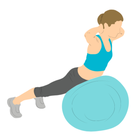 Lose belly fat with a swiss ball back extension