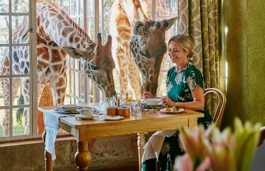 Liz Earle breakfast at Giraffe Manor