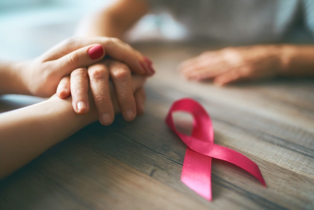 Breast cancer, pink ribbon