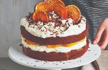 chocolate orange gateaux - full width