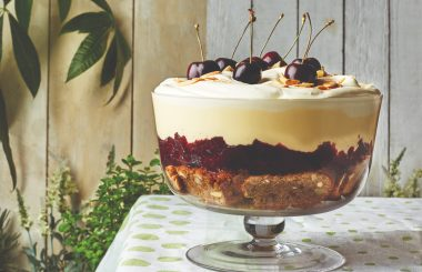 Cherry and almond trifle recipe K
