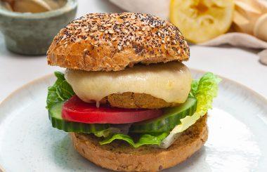 Vegetarian chickpea burger recipe