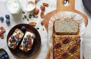 Coconut and pecan breakfast banana bread