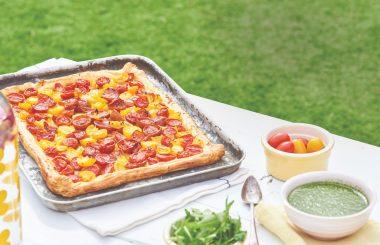Summer tomato tart recipe