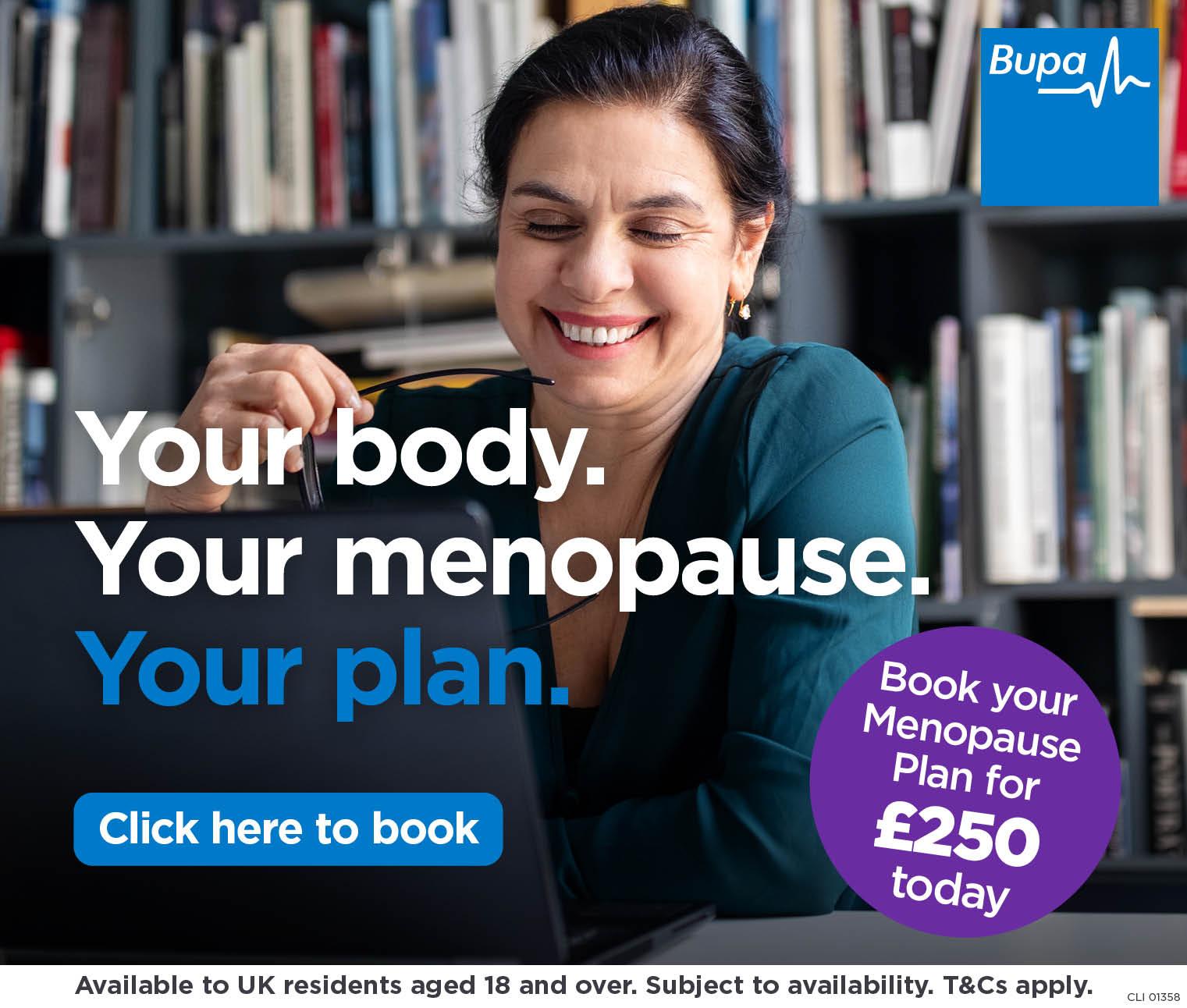 Bupa menopause plan 2